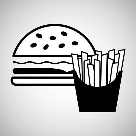 consume: fast food concept with icon design, vector illustration 10 eps graphic.