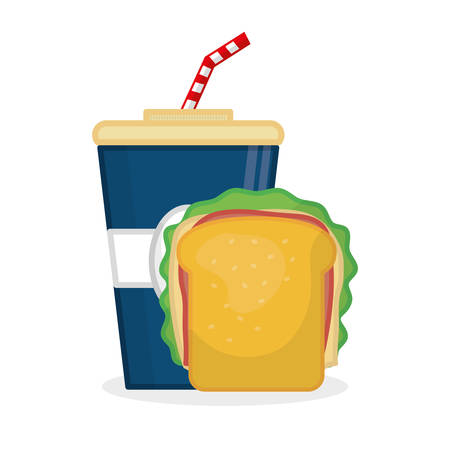 toasted: fast food concept with icon design, vector illustration 10 eps graphic.