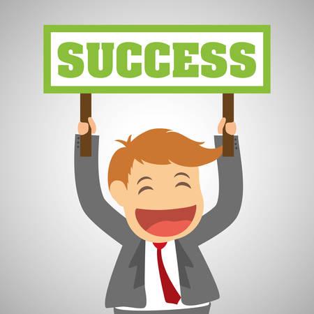 success concept: Success concept with icon design, vector illustration 10 eps graphic.