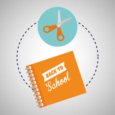 schoolkids: back to school concept with icon design, vector illustration 10 eps graphic.