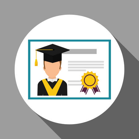bachelor's: learning concept with icon design, vector illustration 10 eps graphic.