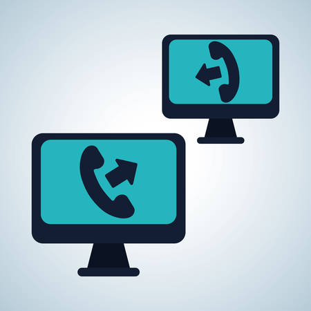 telemarketer: call center concept with icon design, vector illustration 10 eps graphic.
