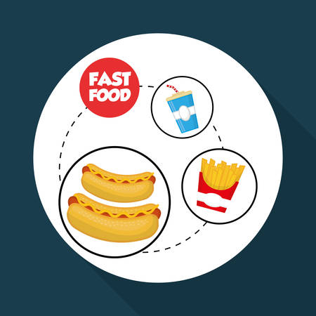 coke: fast food concept with icon design, vector illustration 10 eps graphic.
