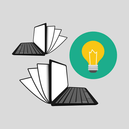 commerce communication: Digital marketing  concept with icon design, vector illustration 10 eps graphic.