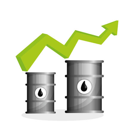 Oil price concept with icon design, vector illustration 10 eps graphic.