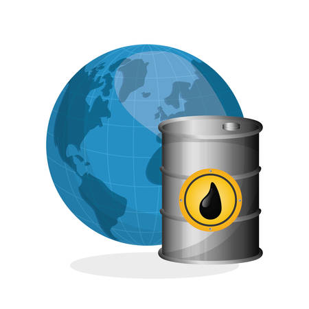 petrochemical plant: Oil price concept with icon design, vector illustration 10 eps graphic. Illustration