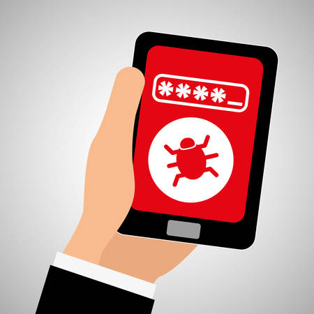 fatal error: Security system concept with icon design, vector illustration 10 eps graphic. Illustration