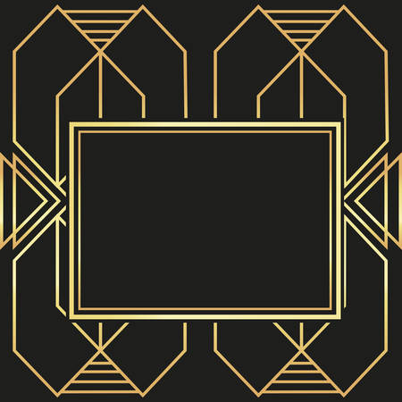 30s: Gatsby concept with icon design, vector illustration 10 eps graphic.