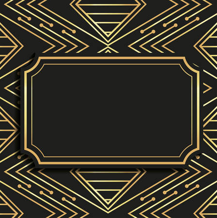 thirties: Gatsby concept with icon design, vector illustration 10 eps graphic.