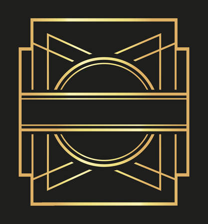 twenties: Gatsby concept with icon design, vector illustration 10 eps graphic.