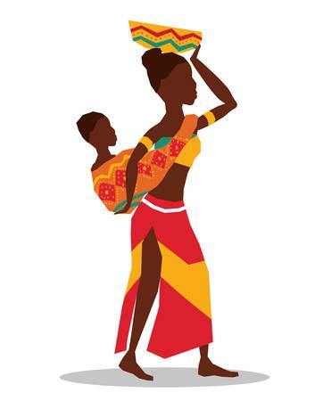 Il concetto dell'Africa con progettazione dell'icona, grafico dell'illustrazione 10 ENV di vettore.
