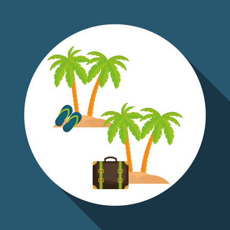 sandal tree: travel  concept with icon design, vector illustration 10 eps graphic. Illustration