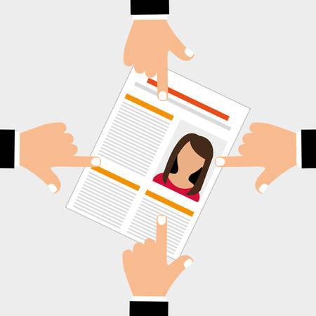 Human Resources-Konzept mit Icon-Design, Vektor-Illustration 10 EPS-Grafik. Vektorgrafik