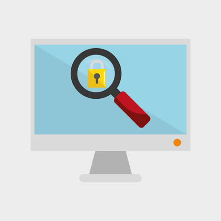 detected: security system concept with icon design, vector illustration 10 eps graphic.