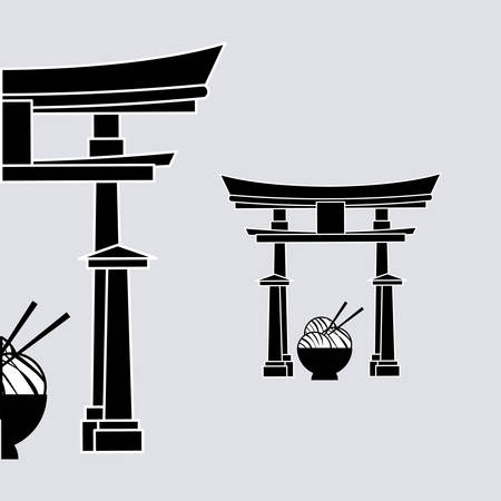 dynasty: Japan concept with icon design, vector illustration 10 eps graphic.