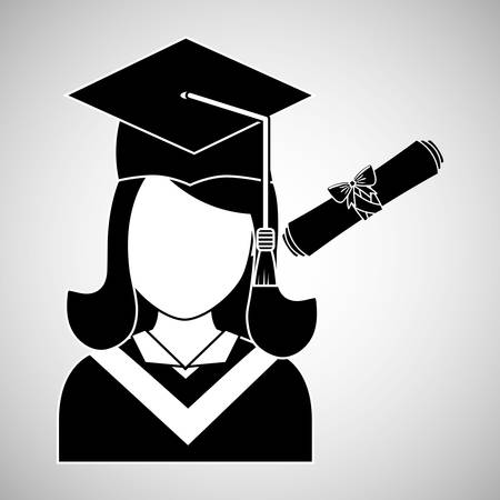 finishing school: University concept with icon design, vector illustration 10 eps graphic.