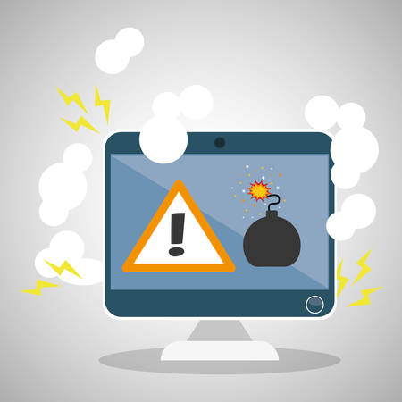 bomb threat: Security concept with icon design, vector illustration 10 eps graphic.