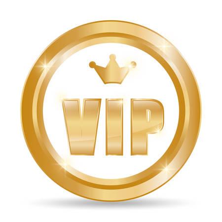 Concepto de VIP con diseño de icono, gráfico de vector ilustración 10 eps.
