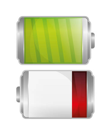 alkaline: Battery concept with icon design, vector illustration 10 eps graphic.