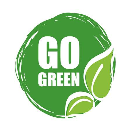 creo que el concepto verde con el diseño de iconos, ilustración vectorial eps 10 gráfico.