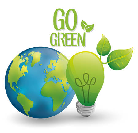 think green: think Green concept with icon design, vector illustration 10 eps graphic. Illustration