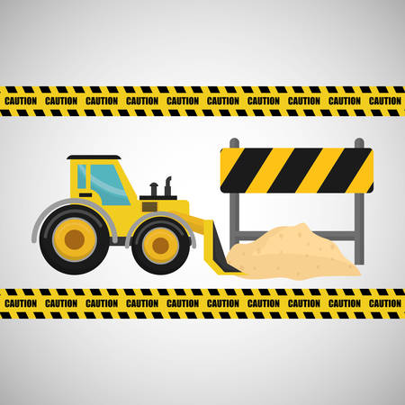 reconstruction: Construction concept with icon design, vector illustration 10 eps graphic.