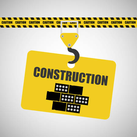in the reconstruction: Construction concept with icon design, vector illustration 10 eps graphic.