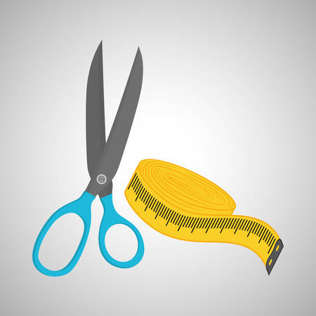 tailored: Sewing concept with icon design, vector illustration 10 eps graphic. Illustration
