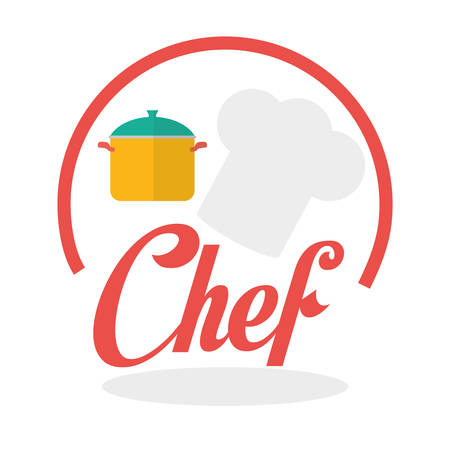 Chef concept with icon design, vector illustration 10 eps graphic. Illustration