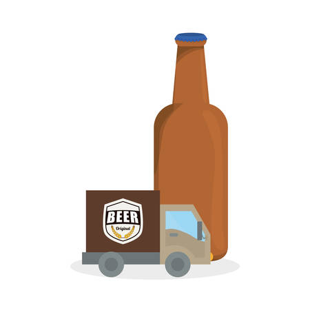 transport truck: Beer concept with icon design, vector illustration 10 eps graphic.