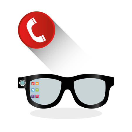 wearable technology concept with icon design, vector illustration