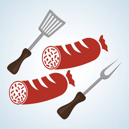 Grill concept with icon design, vector illustration 10 eps graphic.