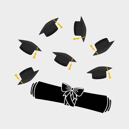 commencement: University concept with icon design, vector illustration 10 eps graphic.