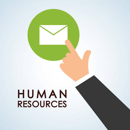 employers: Human resources concept with icon design, vector illustration 10 eps graphic.