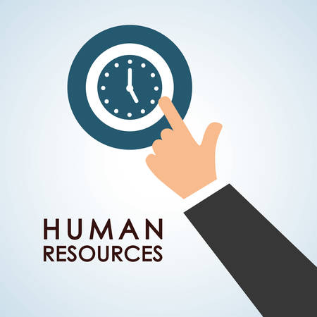 recruit: Human resources concept with icon design, vector illustration 10 eps graphic.