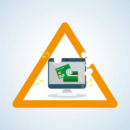 credit risk: Security concept with icon design, vector illustration 10 eps graphic.