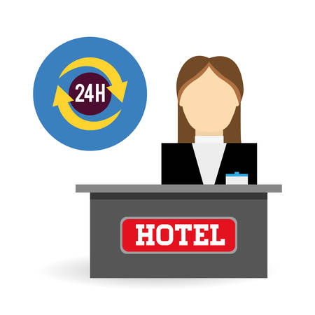 hotel lobby: Hotel  concept with icon design, vector illustration 10 eps graphic.
