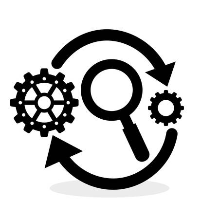 technology symbols metaphors: Process concept with icon design, vector illustration 10 eps graphic.