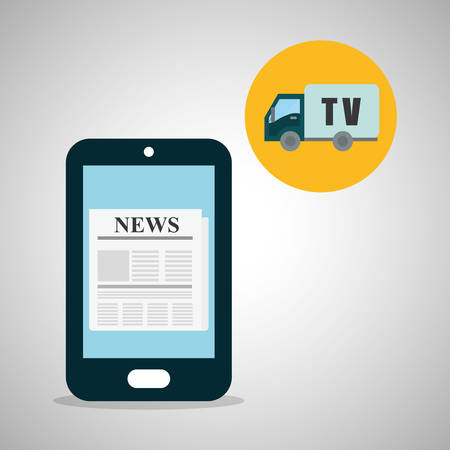 operate: News concept with icon design, vector illustration 10 eps graphic.