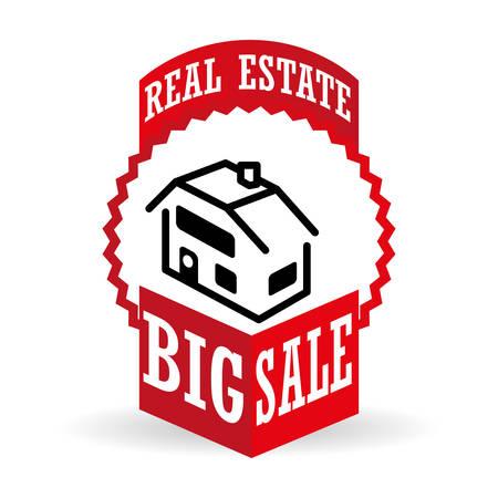 Real Estate concept met pictogram ontwerp, vector illustratie 10 eps grafische.