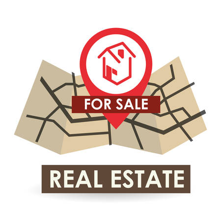 home buyer: Real Estate concept with icon design, vector illustration 10 eps graphic. Illustration
