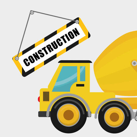 construction safety: Construction concept with icon design, vector illustration 10 eps graphic.