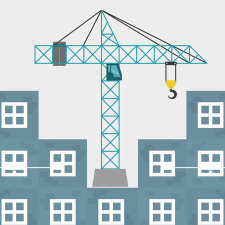 rebuilding: Construction concept with icon design, vector illustration 10 eps graphic.