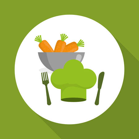 food market: Vegan concept with icon design, vector illustration 10 eps graphic.