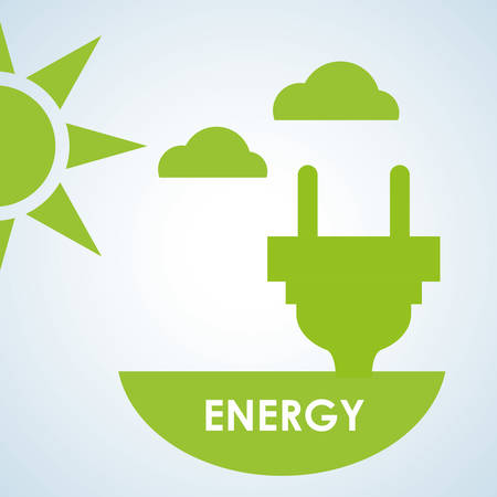 energy icon: Ecology concept with icon design, vector illustration 10 eps graphic.