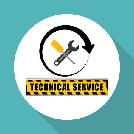 coworker: Technical service  concept with icon design, vector illustration 10 eps graphic. Illustration