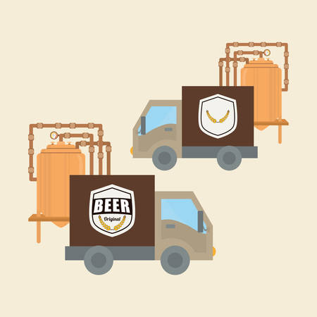 fresh brewed: Beer concept with icon design, vector illustration 10 eps graphic.