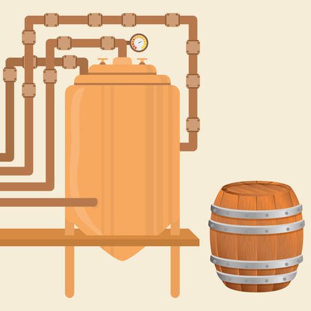 brewed: Beer concept with icon design, vector illustration 10 eps graphic.
