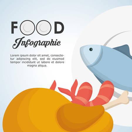 produce product: Food Infographic concept with icon design, vector illustration 10 eps graphic.