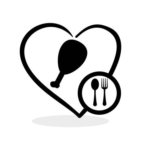 abstract food: Healthy food concept with icon design, vector illustration 10 eps graphic.